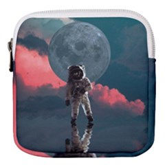 Astronaut Moon Space Planet Mini Square Pouch by Pakrebo