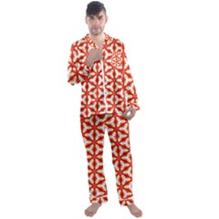 Background Wallpaper Pattern Men s Satin Pajamas Long Pants Set