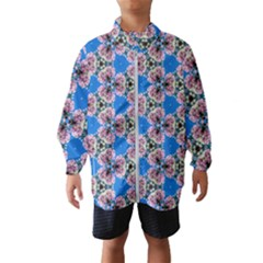 Pattern Sequence Motif Design Plan Floral Kids  Windbreaker