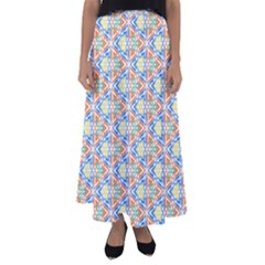 Background Wallpaper Pattern Flared Maxi Skirt