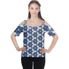 Background Wallpaper Pattern Cutout Shoulder Tee