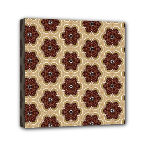 Pattern Sequence Motif Design Plan Mini Canvas 6  X 6  (stretched) by Pakrebo