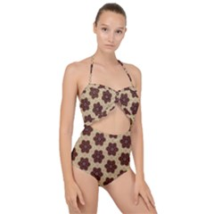 Pattern Sequence Motif Design Plan Scallop Top Cut Out Swimsuit