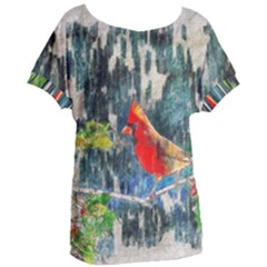 Texture Art Decoration Abstract Bird Nature Women s Oversized Tee by Pakrebo