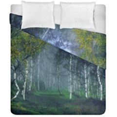Birch Forest Nature Landscape Duvet Cover Double Side (california King Size)