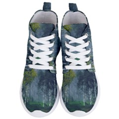 Birch Forest Nature Landscape Women s Lightweight High Top Sneakers by Pakrebo