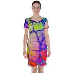 Isolated Transparent Sphere Short Sleeve Nightdress