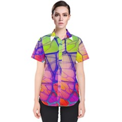Isolated Transparent Sphere Women s Short Sleeve Shirt