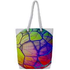 Isolated Transparent Sphere Full Print Rope Handle Tote (small)