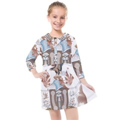 Coat Of Arms Of Northern Territory Kids  Quarter Sleeve Shirt Dress by abbeyz71