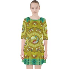 Mandala In Peace And Feathers Pocket Dress by pepitasart