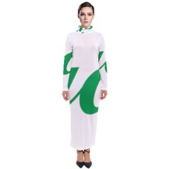 Logo Of Ashgabat Turtleneck Maxi Dress by abbeyz71