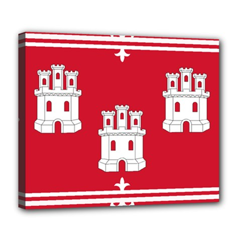 Flag Of Aberdeen Deluxe Canvas 24  X 20  (stretched) by abbeyz71