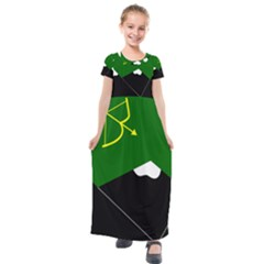 Flag Of Hunza  Kids  Short Sleeve Maxi Dress by abbeyz71