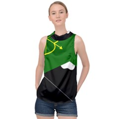 Flag Of Hunza  High Neck Satin Top by abbeyz71
