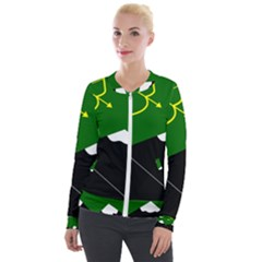 Flag Of Hunza  Velour Zip Up Jacket by abbeyz71