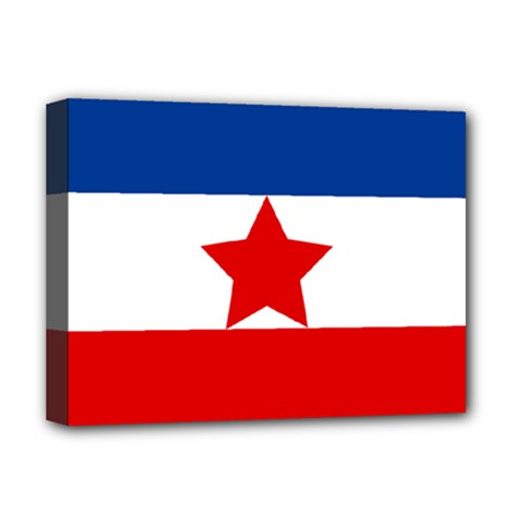 Flag Of Yugoslav Partisans Deluxe Canvas 16  X 12  (stretched)
