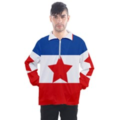 Flag Of Yugoslav Partisans Men s Half Zip Pullover by abbeyz71