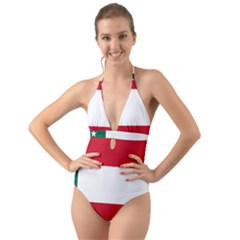 Flag Of The Republic Of Yucatán Halter Cut-out One Piece Swimsuit by abbeyz71