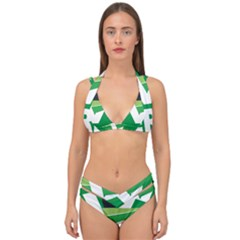 Logo Of Ecologist Green Party Of Mexico Double Strap Halter Bikini Set by abbeyz71