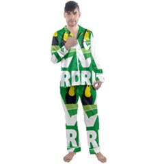 Logo Of Ecologist Green Party Of Mexico Men s Satin Pajamas Long Pants Set