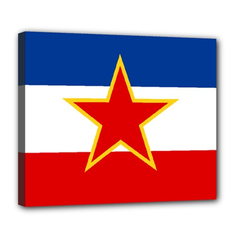 Flag Of Yugoslavia, 1946-1992 Deluxe Canvas 24  X 20  (stretched) by abbeyz71