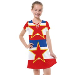 Flag Of Yugoslavia, 1946 1992 Kids  Cross Web Dress by abbeyz71