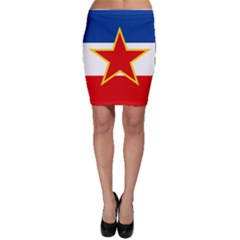 Civil Ensign Of Yugoslavia, 1950-1992 Bodycon Skirt by abbeyz71