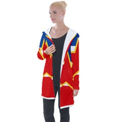 Civil Ensign Of Yugoslavia, 1950-1992 Longline Hooded Cardigan by abbeyz71