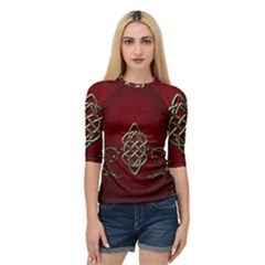 Wonderful Decorative Celtic Knot Quarter Sleeve Raglan Tee by FantasyWorld7