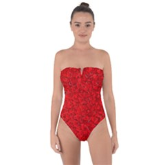 Red Of Love Tie Back One Piece Swimsuit