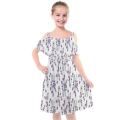 As Purple Is To Lavender Kids  Cut Out Shoulders Chiffon Dress by WensdaiAddamns