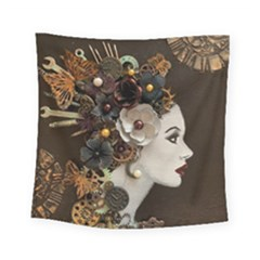 Mechanical Beauty  Square Tapestry (small) by CKArtCreations