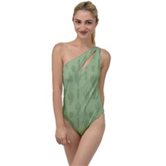 Cactus Pattern To One Side Swimsuit by Valentinaart
