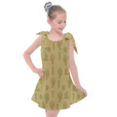 Cactus Pattern Kids  Tie Up Tunic Dress by Valentinaart