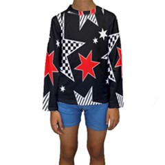 Questioning Anything   Star Design Kids  Long Sleeve Swimwear by WensdaiAddamns