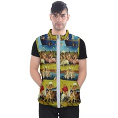 Hieronymus Bosch The Garden Of Earthly Delights (closeup) Men s Puffer Vest by impacteesstreetwearthree