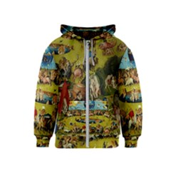Hieronymus Bosch The Garden Of Earthly Delights (closeup) Hieronymus Bosch The Garden Of Earthly Delights (closeup) 3 Kids  Zipper Hoodie by impacteesstreetwearthree