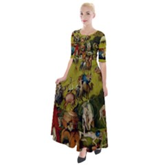 Hieronymus Bosch The Garden Of Earthly Delights (closeup) Hieronymus Bosch The Garden Of Earthly Delights (closeup) 3 Half Sleeves Maxi Dress by impacteesstreetwearthree