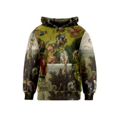 Heronimus Bosch Ship Of Fools Hieronymus Bosch The Garden Of Earthly Delights (closeup) 3 Kids  Pullover Hoodie by impacteesstreetwearthree