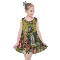 Heronimus Bosch Ship Of Fools Hieronymus Bosch The Garden Of Earthly Delights (closeup) 3 Kids  Summer Dress by impacteesstreetwearthree
