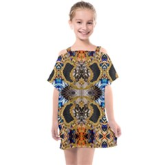 Luxury Abstract Design Kids  One Piece Chiffon Dress by tarastyle