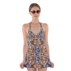 Luxury Abstract Design Halter Dress Swimsuit  by tarastyle