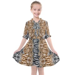 Luxury Abstract Design Kids  All Frills Chiffon Dress by tarastyle