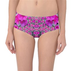 From The Sky Came Flowers In Peace Mid Waist Bikini Bottoms