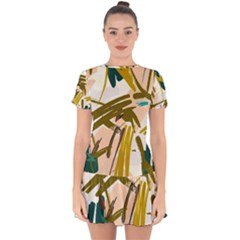 Abstract Brushstrokes Mini Dress