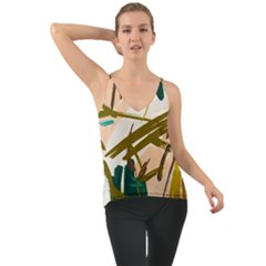 Abstract Brushstrokes Chiffon Cami