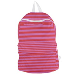 Love Sick   Bubblegum Pink Stripes Foldable Lightweight Backpack by WensdaiAddamns