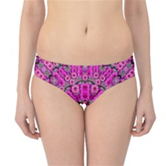 From The Sky Came Flowers In Calm Bohemian Peace Hipster Bikini Bottoms by pepitasart