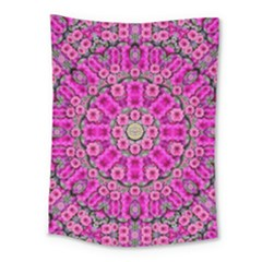 From The Sky Came Flowers In Calm Bohemian Peace Medium Tapestry by pepitasart